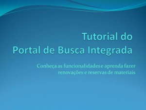 Tutorial Portal de Busca Integrada