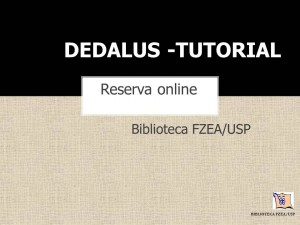 Tutorial DEDALUS - Reserva online