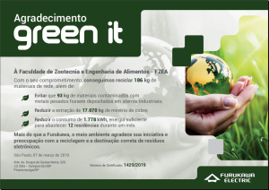 Certificado Green IT 2019 - Furukawa Electric