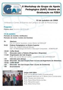 2º Workshop de Ensino de Graduação na FZEA