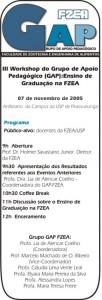 3º Workshop de Ensino de Graduação na FZEA