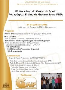 4º Workshop Ensino de Graduação na FZEA