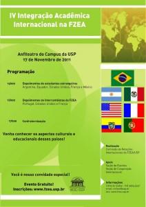 IV Integração Acadêmica Internacional na FZEA
