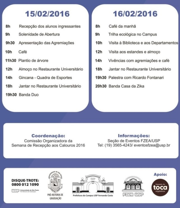 XVIII Semana de Recepção aos Calouros - 2016