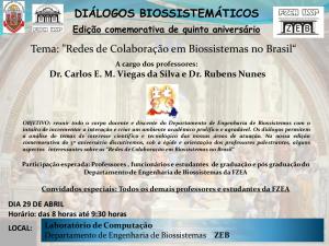 Diálogos Biossistemáticos - Edição comemorativa de quinto aniversário