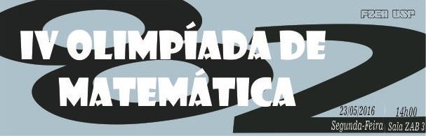 Banner IV Olimpíada de Matemática FZEA-USP
