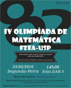 IV Olimpíada de Matemática FZEA-USP