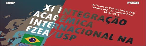 Banner XI Integração Acadêmica Internacional na FZEA
