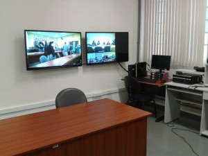 Sala de videoconferência da FZEA