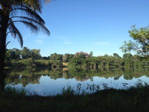 Vista da lagoa Aguapé