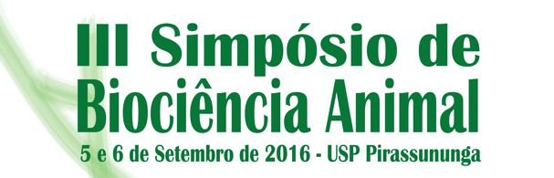 Banner III Simpósio de Biociência Animal