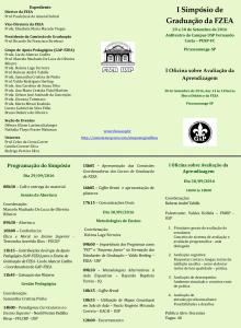 I Simpósio de Graduação da FZEA e I Oficina sobre Avaliação da Aprendizagem