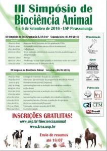 III Simpósio de Biociência Animal