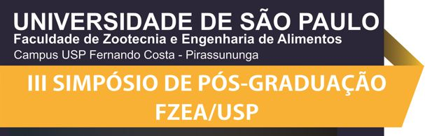 Banner III Simpósio de Pós-Graduação FZEA/USP