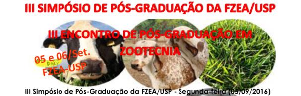 Banner III Encontro de Pós-Graduação em Zootecnia