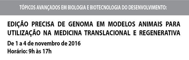 Banner Curso Edição precisa do genoma em modelos animais