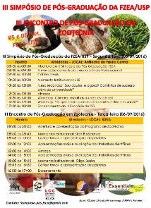 III Encontro de Pós-Graduação em Zootecnia