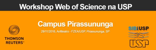 Banner Workshop Web of Science na USP - SIBi