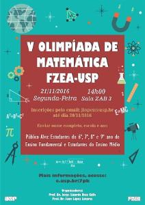 V Olimpíada de Matemática da FZEA