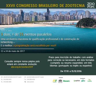ZOOTEC 2017 - XXVII Congresso Brasileiro de Zootecnia
