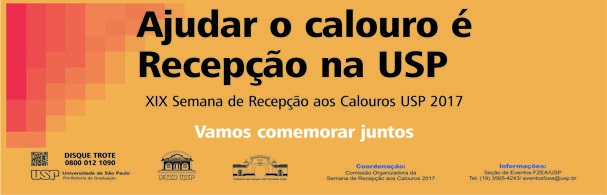 Banner XIX Semana de Recepção aos Calouros – 2017