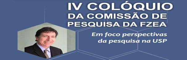 Banner IV Colóquio da Comissão de Pesquisa da FZEA