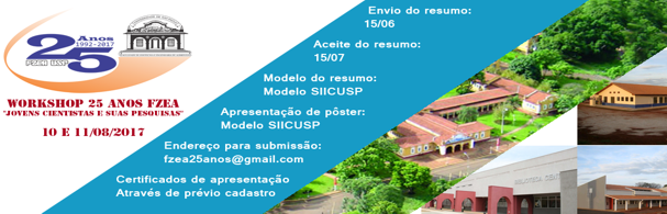Banner Workshop 25 Anos da FZEA