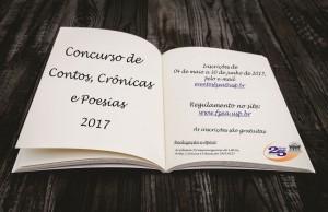 Concurso de Contos, Crônicas e Poesias - 2017