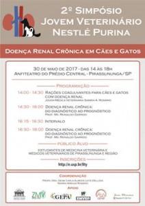 Logo cartaz 2º Simpósio Jovem Veterinário Nestlé Purina