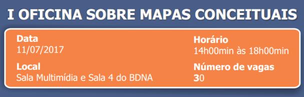 Banner I Oficina sobre Mapas Conceituais