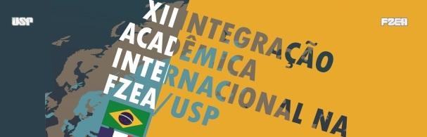 Banner XII Integração Acadêmica Internacional na FZEA