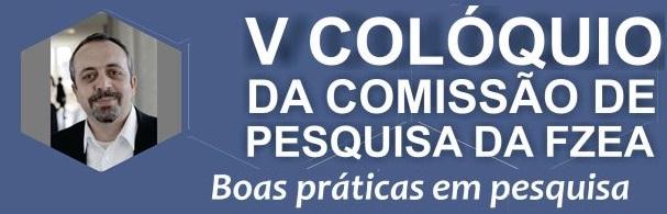 Banner V Colóquio da Comissão de Pesquisa da FZEA