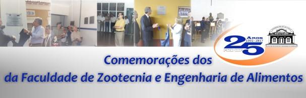 Banner Comemorações dos 25 Anos da FZEA/USP