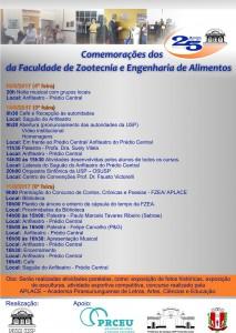 Comemorações dos 25 Anos da FZEA/USP
