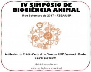 IV Simpósio de Biociência Animal