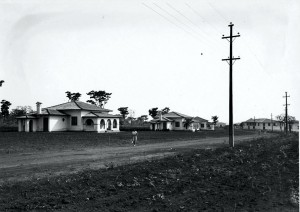 """Colônia dos Mestres, década de 40/50 – atual Casa de Hospedes da Prefeitura do Campus """"Fernando Costa"""", USP de Pirassununga. Foto: Acervo Digital FZEA."""