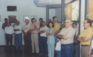 07/10/1995 - Inauguração das instalações do Departamento de Zootecnia (ZAZ): discurso do Magnífico Reitor da USP, Prof. Dr. Flávio Fava de Moraes. Foto: Acervo FZEA.