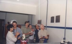 01/07/1995 - Inauguração das instalações do Departamento de Ciências Básicas (ZAB): descerramento de placa pelo Magnífico Reitor, Prof. Dr. Flávio Fava Moraes. Foto: Acervo FZEA.