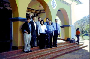 30/08/1998 - Reunião para discutir a implantação do curso de Engenharia de Alimentos. Foto: Acervo FZEA.