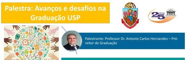 Banner Palestra Avanços e desafios na Graduação USP