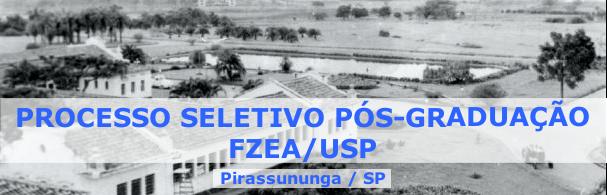 Banner Processo Seletivo Pós-Graduação FZEA