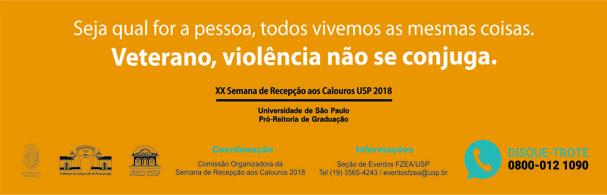 Banner XX Semana de Recepção aos Calouros – 2018