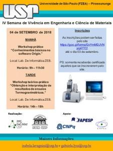 IV Semana de Vivência em Engenharia e Ciência de Materiais
