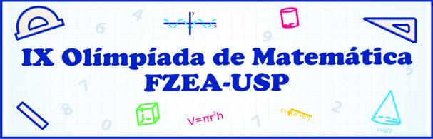Banner IX Olimpíada de Matemática FZEA-USP