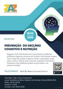 Palestra Prevenção do Declínio Cognitivo e Nutrição