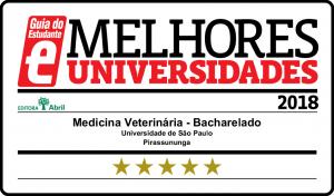 Selo de qualidade do Guia do Estudante – Medicina Veterinária FZEA 2018