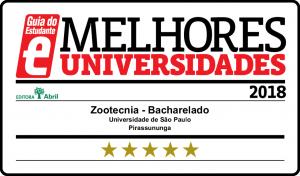 Selo de qualidade do Guia do Estudante – Zootecnia FZEA 2018