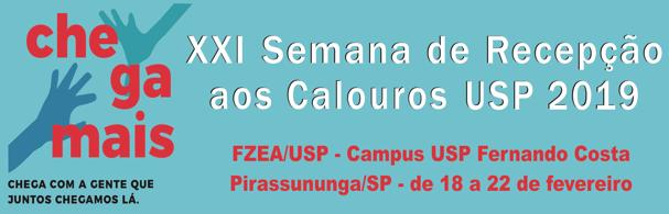 Banner XXI Semana de Recepção aos Calouros – 2019