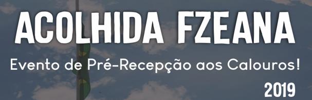 Banner Acolhida FZEANA 2019
