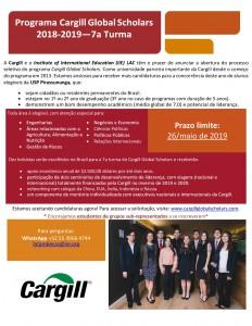 Programa Cargill Global Scholars 2018-2019